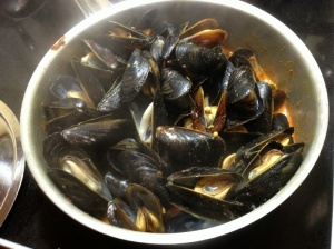 Bombay Mussels are done